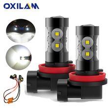 OXILAM 2x Canbus H11 H8 H9 lampadina fendinebbia a LED per VW Volkswagen Golf 4 5 7 6 Passat B5 B6 B7 Jetta Beetle Touareg Touran Tiguan