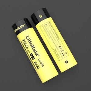 Image 3 - 1 20 قطعة LiitoKala Lii 35S جديد 18650 Battery3.7V ليثيوم أيون 3500mAh بطارية ليثيوم لأجهزة استنزاف عالية.