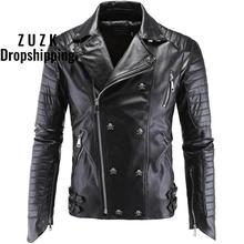 ZUZK Drop Shipping Men's Winter Leather Jackets Faux Jacket