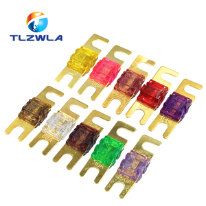 ANL Gold Plated Stud Car Fuses Mini Car Stereo Audio AFS Fuse 20A 30A 40A 50A 60A 70A 80A 100A 125A 150A 32V Auto Fuse Fuses Hot(China)