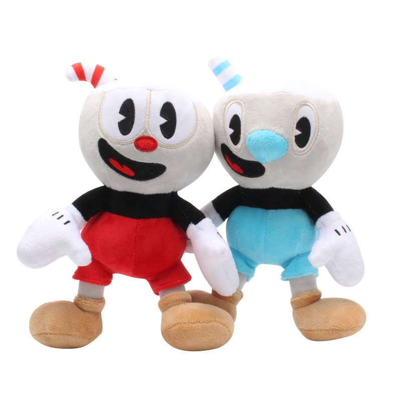 Video Game Cuphead Plush Mugman Boss The Devil Legendary Chalice Soft Stuffed Plush Doll Toys Kids Gifts