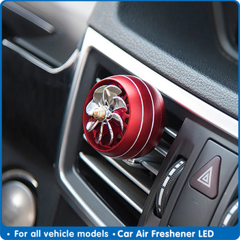 Air Freshener Car LED Lights Universal Auto Fragrance Perfume Fragance Perfume Clip Diffuser Auto Air Conditioning Outlet Goods image