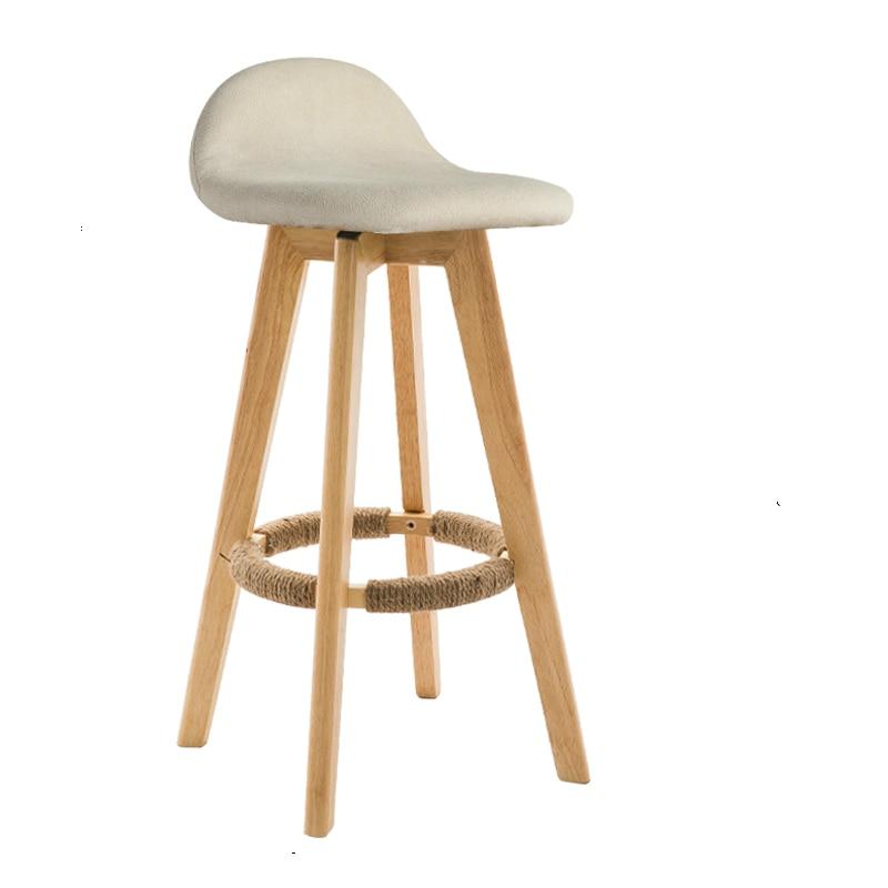 Nordic bar chair solid wood back bar stool retro home high stool rotating modern minimalist front desk chair
