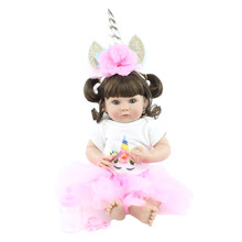 40cm Full Silicone Body Reborn Baby Doll Toy For Girl Soft Vinyl Mini Babies Bonecas Child Bathe Dress Up Toy Kids Birthday Gift(China)