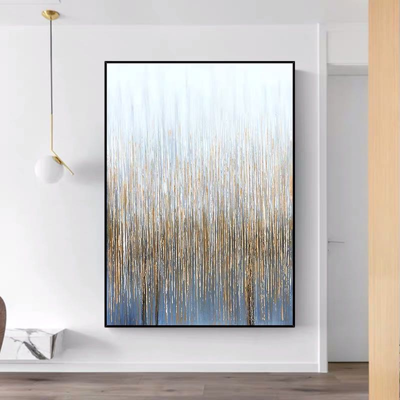 Corak Dinding Lukisan Pada Kanvas Vertical Seni Abstrak Dekoratif Emas Gambar Untuk Ruang Lienzos Cuadros Decorativos Painting Calligraphy Aliexpress