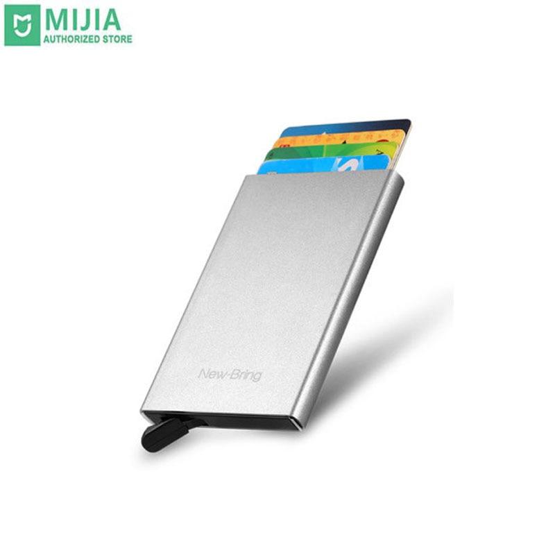 Stock Mi Xiaomi Anti-Theft Credit Card Package Wallet Card Bag Brush Anti-Degaussing Metal Card Box Ultra-Thin Card Sleeve