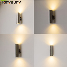 Fast shipping up down Indoor Led wall light stainless steel decorate 6W 8W 10W 14W led Wall lamp new Wall Sconce bedroom Modern