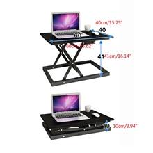 Black  Sit-Stand Large Height Adjustable Computer Desk Converter Stand up Office Desktop