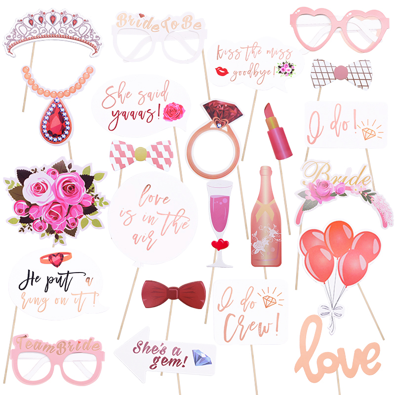 Wedding Decoration Bride To Be Photo Booth Props Mr Mrs Just Married Photoprop Baby Bridal Shower Hen Bachelor Party Decoration