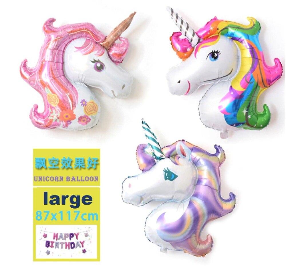 46 pulgadas unicornio fiesta globo decoración mini fiesta de cumpleaños baby shower boda decoración globo niños juguete regalo 10 piezas