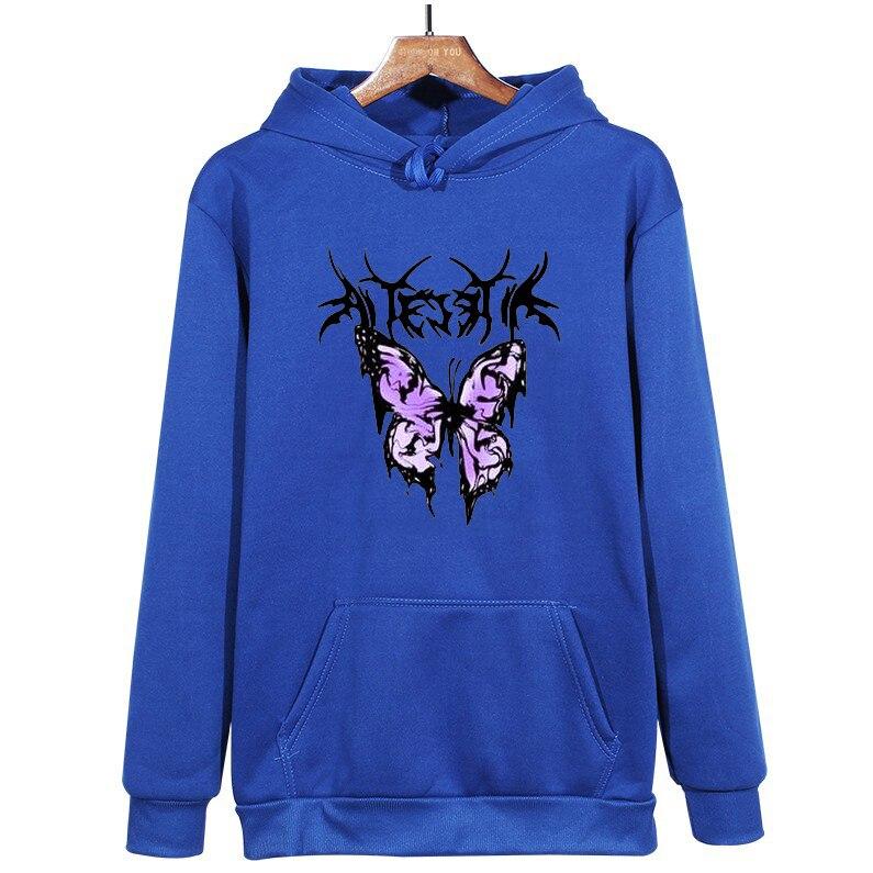 pink clothing black butterfly oversized Women's Hoodies Print Kawaii Sweatshirt Hoodies for Women top Hoody clothes Full Sleeve 16