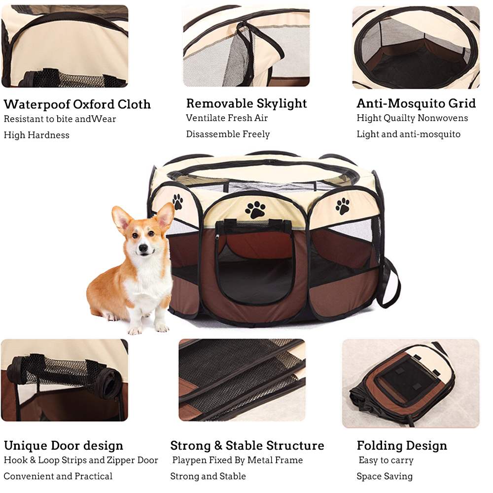 portable dog crate features
