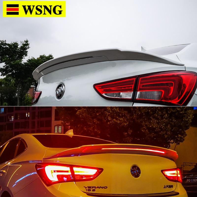 New Design Rear Wing Spoiler For BUICK Verano GS Spoiler Flowing Brake Lamp Trunk ABS Plasti Spoiler Wing