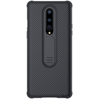 Funda protectora para OnePlus 8, cubierta de cámara deslizante, Upgrate CamShield con funda protectora para lente de cámara (negro)