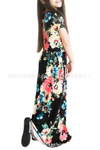 Long Dress Beachwear Dresses Casual Beach Party Bohemia Maxi Dress With Pocket Casual Sundress Outfits For Children Girls Dress maxi cami dress with fringing black