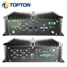 Todo-poderoso fanless industrial mini computador ipc intel j1900 quad core 7x24 horas 2 * lans 8 * usb 6 * com gpio lpt ps/2 hdmi vga 4g wifi(China)