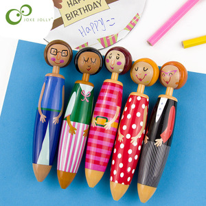 1PC Lovely Fat Girl Doll Ballpoint Pen Creative Stationery Learning Supplies Kawaii Gift Stationery Kids Funny Drawing Toys ZXH