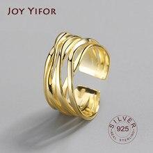Bagues en Argent Sterling 925 Pour femmes, anneau ouvert irrégulier, Bijoux Argento Donna