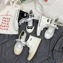 Famous canvas shoes female Korea purchasing explosion models student shoes net red recommended ins high help small white shoes purchasing power