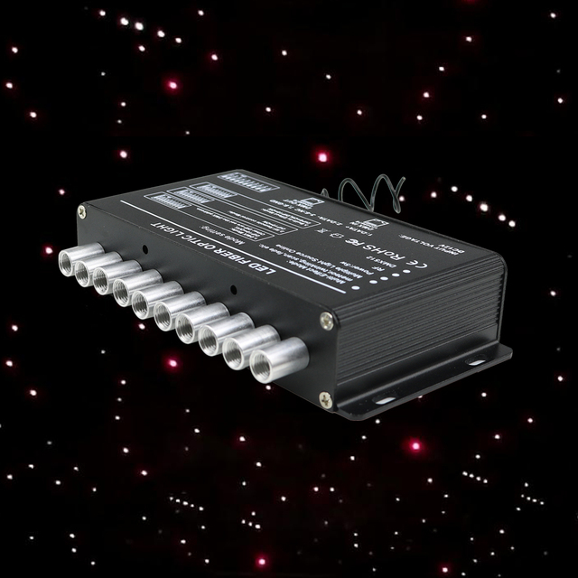 5W Shooting Stars Fiber Optic Light Source RF Remote Meteor starry sky Effect White Lighting LED Engine Driver