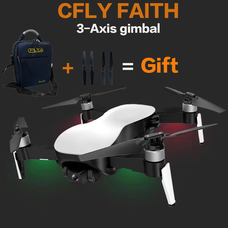 CFLY C-CFLY Faith 806 RC Drone Quadcopter 3-Axis Gimbal 4k Camera 1km FPV Distance Optical Flow VS EX4  X12