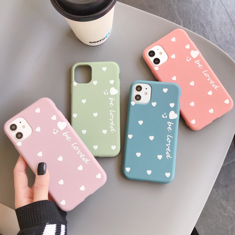Phone <font><b>Cases</b></font> For <font><b>Huawei</b></font> <font><b>nova</b></font> <font><b>5t</b></font> <font><b>Case</b></font> Cover Honor 20 20S Capa Candy Color Cute Love Heart Lover Soft tpu Pink Girl Couple Coque image