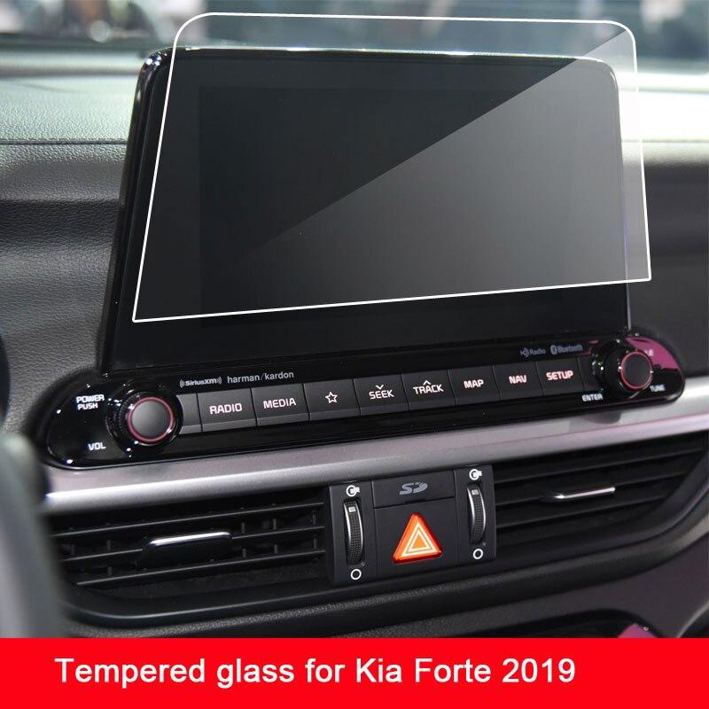 9 h temperado filme protetor de tela de vidro para kia forte 2019 navegação do carro touch center display tela
