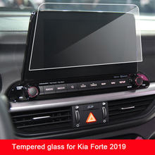 9h filme protetor de tela vidro temperado para kia forte 2019 2020 navegação do carro touch center display tela