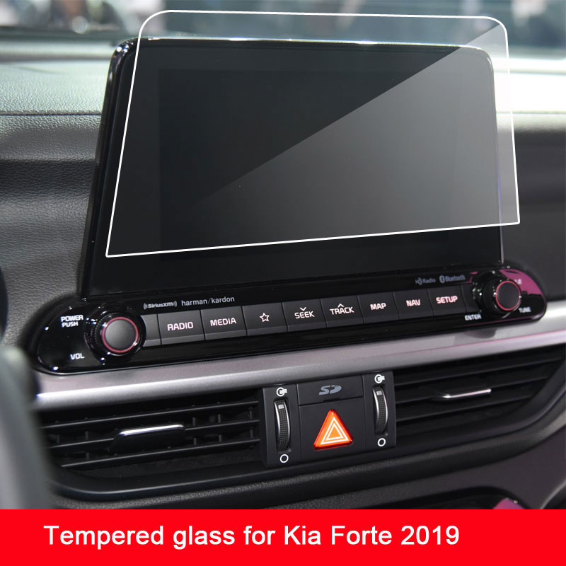 9H Tempered Glass Screen Protector Film For Kia Forte 2019 Car Navigation Touch Center Display Screen