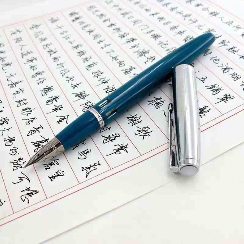 Kanat Sung 601A Vacumatic dolma kalem pistonlu tip mürekkep kalem gümüş kap iş kırtasiye ofis okul malzemeleri yazma hediye