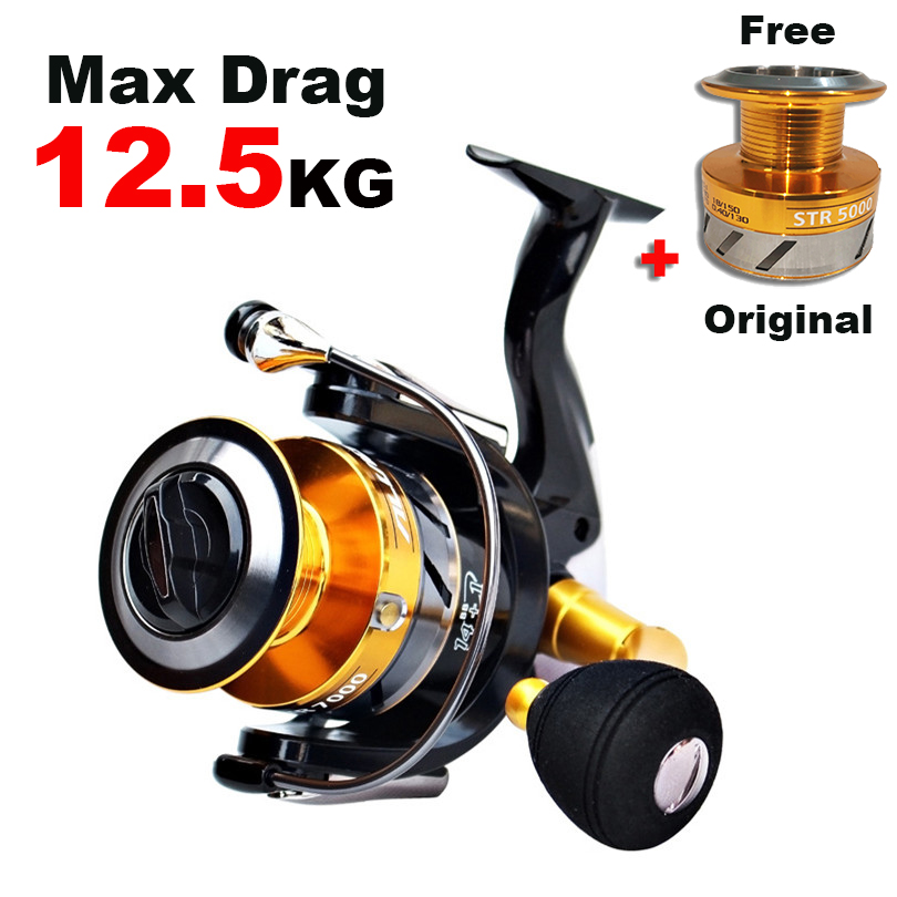 Double Metal Spools Spinning Fishing Reel  Original Spare Spool Fishing Reels Saltwater Carp Feeder Free Metal Spare Spool Reel