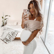 Summer Dresses for Pregnant Women Maternity Clothing Solid Color Elastic Tight Sleeveless Casual