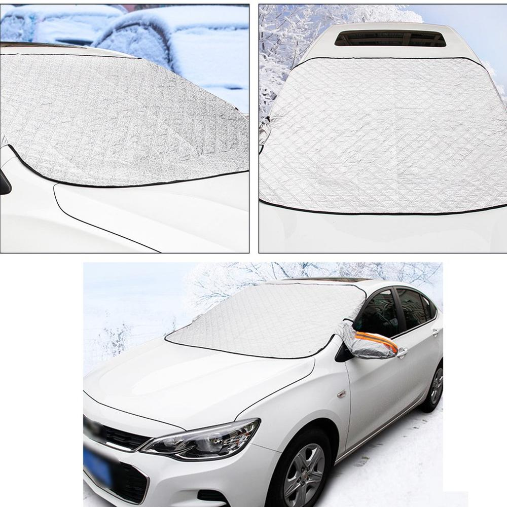 Winter Waterdichte Auto Dekt Auto Voorruit Cover Verdikking Anti-vorst Outdoor Sneeuw Glas Sneeuw Auto Set