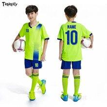 Бесплатная доставка носков, детские футбольные трикотажные комплекты, Футбольная форма для мальчиков 2020, футбольная Джерси, детский спорти...