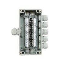 IP65 Waterproof Cable Junction Box 1 in 5 out 80*160*55mm with UK2.5B Din Rail Terminal Blocks