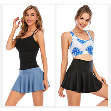 Women Tennis Skorts Yoga Shorts Skirt Gym Fitness Shorts Sport High Wasit Athletic Jogging Sportswear Golf Badmintion Pantskirt