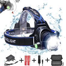 цена на 10000Lm L2 Portable LED Headlamp zoomable Head Lamp waterproof torch Adjust Focus for fishing Camping Light