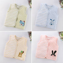 0-5 Years Kids Baby Girl Boy Cotton Jacket Spring Autumn Warm Coat Vest For Girls Clothes Sleeveless Soft Waistcoat For Boy Tops(China)