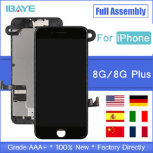 AAA+++ Quality LCD Display For iPhone 8 Plus Touch Screen Replacement Full Set LCD For iPhone 8plus 8G 3D Touch No Dead Pixel