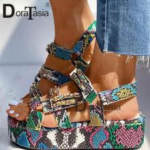 DORATASIA Big Size 34-44 Brand New Luxury Ladies Colorful Wedges Gladiator Sandals