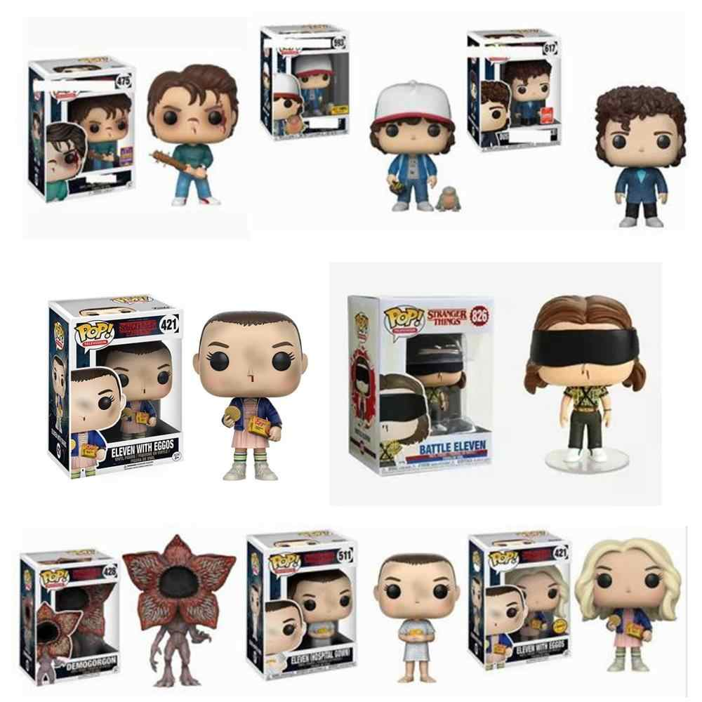 Funko pop stranger things jedenaście Demogorgon Hopper Jonathan Nancy Brenner Joyce figurki model kolekcjonerski