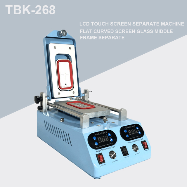 Genuine TBK 268 Separator Machine Automatic LCD Screen Frame Bezel Heating For Flat Curved Screen Glass Middle Frame Separate