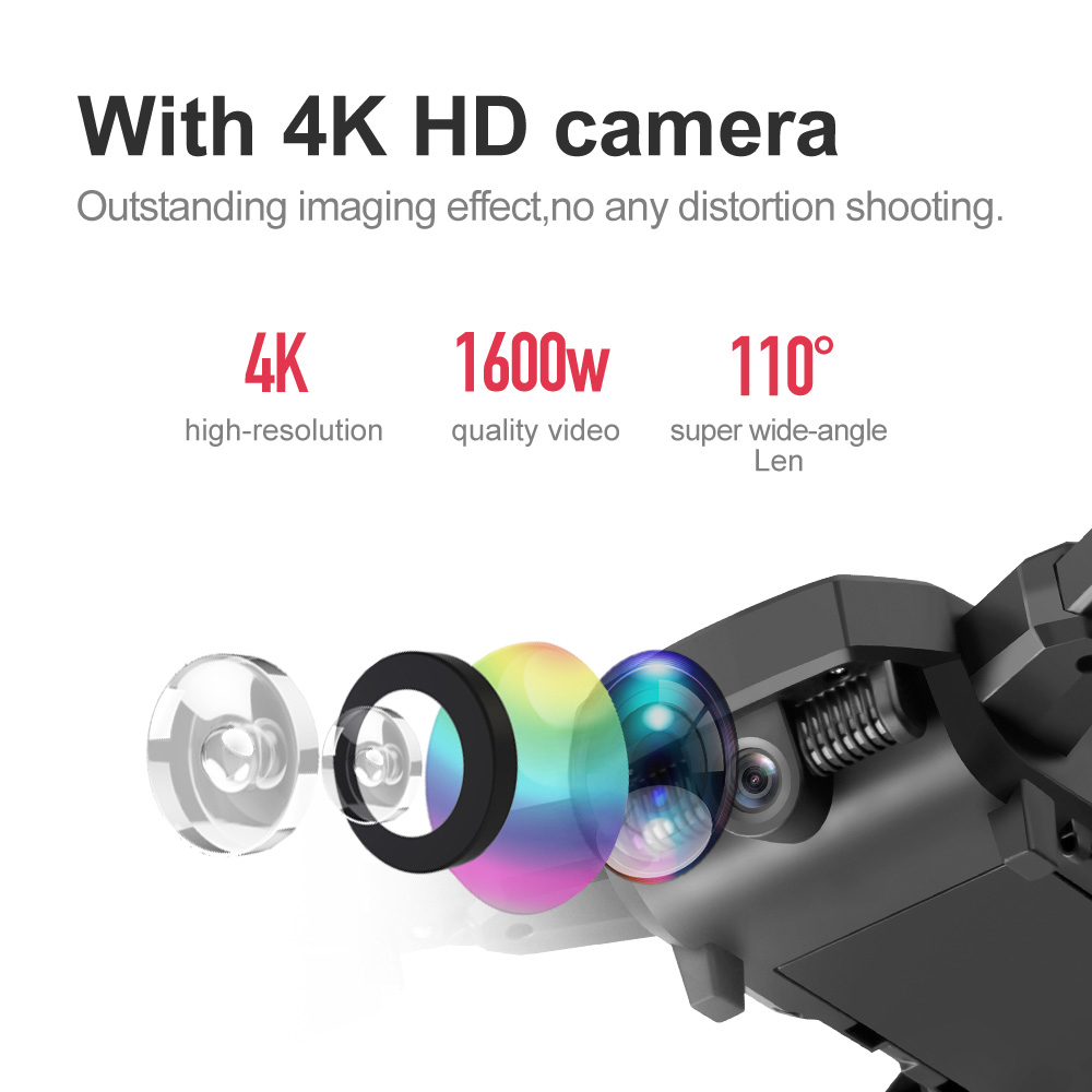 4K Drone with HD Camera WIFI FPV RC Long Battery