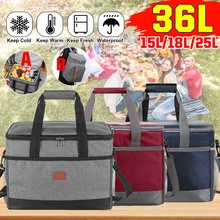Tote-Cooler Lunch-Bags Food-Storage-Bags Insulated 2-Style Handbag Shoulder-Bag 25L/36L