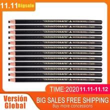 عدد 2 قطعة من أقلام تحديد الجلد باللون الأسود من العلامة التجارية Lapis تيح ografico Dermograph mitsubishi bushi Uni عدد 7600 مستلزمات الوشم للحاجب