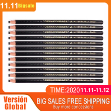 2pcs Lapis Dermatografico Dermograph Mitsubushi Uni Black Marker Pencil 7600 Microblading Accesories Tattoo Supplies for Eyebrow