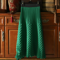 LANMREM 2020 Spring New Fashion Pleated Skirt For Women Elastic Waist Loose Big Pendulum Skirt High Quality Clothes Famale YH700