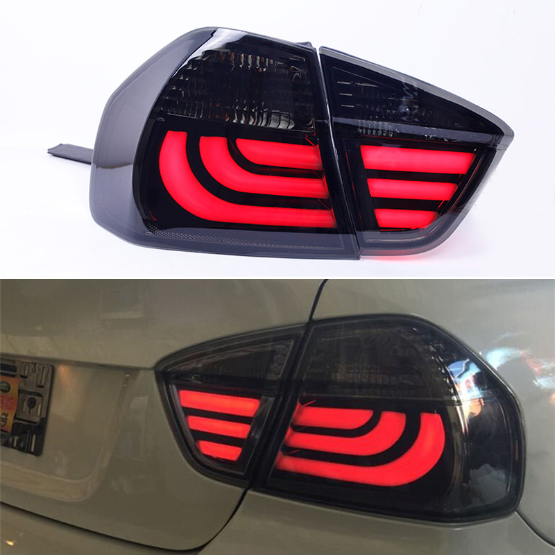 Car Headlights For BMW E90 taillights 3 Series rear lamp 318i 320i 325i taillight LED DRL++Turn Signal+Brake+Reverse LED light image