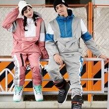 Madcraft лыжный костюм для мужчин и женщин, стиль, сноуборд, куртка, штаны, теплые, водонепроницаемые, ветрозащитные, лыжные, женские, зимние костюмы-30