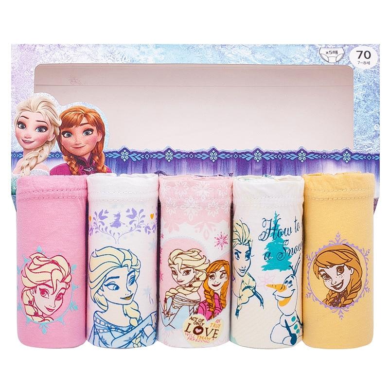 1pc Panties For Girls Baby Anna Elsa Princess Cotton Underpants Briefs Children Teenagers 3-13Y Girls Underwear Baby Clothing